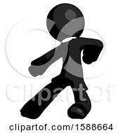 Black Clergy Man Karate Defense Pose Left