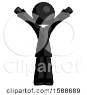 Black Clergy Man With Arms Out Joyfully