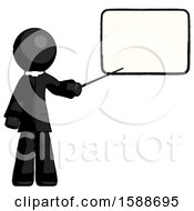 Black Clergy Man Giving Presentation In Front Of Dry Erase Board