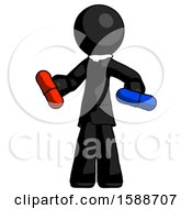 Black Clergy Man Red Pill Or Blue Pill Concept