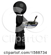 Black Clergy Man Holding Noodles Offering To Viewer