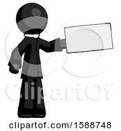 Black Clergy Man Holding Large Envelope