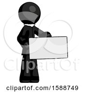 Black Clergy Man Presenting Large Envelope