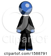 Blue Clergy Man Standing Facing Forward