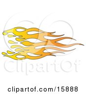 Orange And Yellow Flames Clipart Illustration