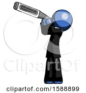 Blue Clergy Man Thermometer In Mouth