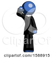 Blue Clergy Man Soldier Salute Pose