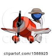 Blue Detective Man Flying In Geebee Stunt Plane Viewed From Below