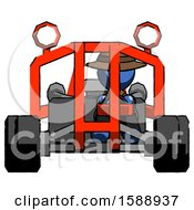 Blue Detective Man Riding Sports Buggy Front View