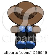 Blue Detective Man Sitting With Head Down Facing Forward