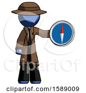 Blue Detective Man Holding A Large Compass