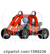 Blue Clergy Man Riding Sports Buggy Side Angle View