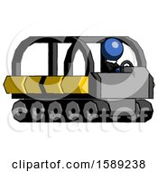 Blue Clergy Man Driving Amphibious Tracked Vehicle Side Angle View