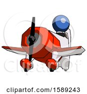 Blue Clergy Man Flying In Geebee Stunt Plane Viewed From Below