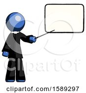 Blue Clergy Man Giving Presentation In Front Of Dry Erase Board