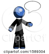 Blue Clergy Man With Word Bubble Talking Chat Icon