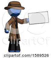 Blue Detective Man Holding Large Envelope
