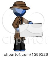 Blue Detective Man Presenting Large Envelope