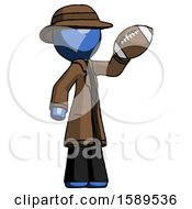 Blue Detective Man Holding Football Up