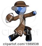 Blue Detective Man Throwing Football