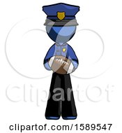 Blue Police Man Giving Football To You