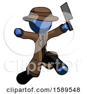 Blue Detective Man Psycho Running With Meat Cleaver