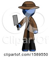 Blue Detective Man Holding Meat Cleaver