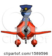 Blue Police Man In Geebee Stunt Plane Front View
