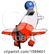 Blue Clergy Man In Geebee Stunt Plane Descending Front Angle View