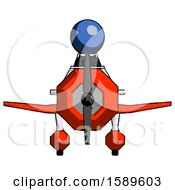 Blue Clergy Man In Geebee Stunt Plane Front View