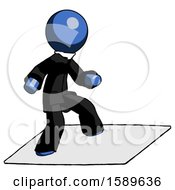 Blue Clergy Man On Postage Envelope Surfing