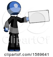 Blue Clergy Man Holding Large Envelope