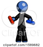 Blue Clergy Man Red Pill Or Blue Pill Concept