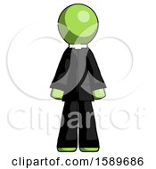 Green Clergy Man Standing Facing Forward