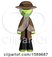 Green Detective Man Standing Facing Forward by Leo Blanchette