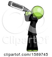 Green Clergy Man Thermometer In Mouth