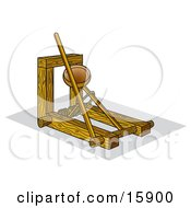 Historical Wooden Catapult