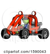 Green Police Man Riding Sports Buggy Side Angle View