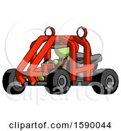 Green Detective Man Riding Sports Buggy Side Angle View