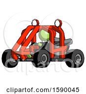 Green Clergy Man Riding Sports Buggy Side Angle View