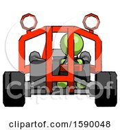 Green Clergy Man Riding Sports Buggy Front View