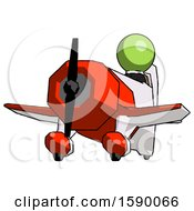 Green Clergy Man Flying In Geebee Stunt Plane Viewed From Below