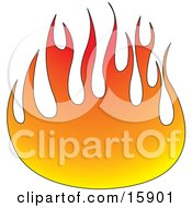 Ball Of Fire Clipart Illustration by Andy Nortnik