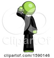 Green Clergy Man Soldier Salute Pose