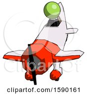 Green Clergy Man In Geebee Stunt Plane Descending Front Angle View