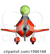 Green Clergy Man In Geebee Stunt Plane Front View