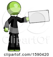 Green Clergy Man Holding Large Envelope
