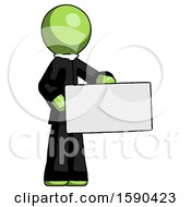 Green Clergy Man Presenting Large Envelope