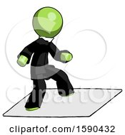 Green Clergy Man On Postage Envelope Surfing
