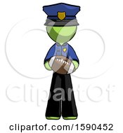 Green Police Man Giving Football To You